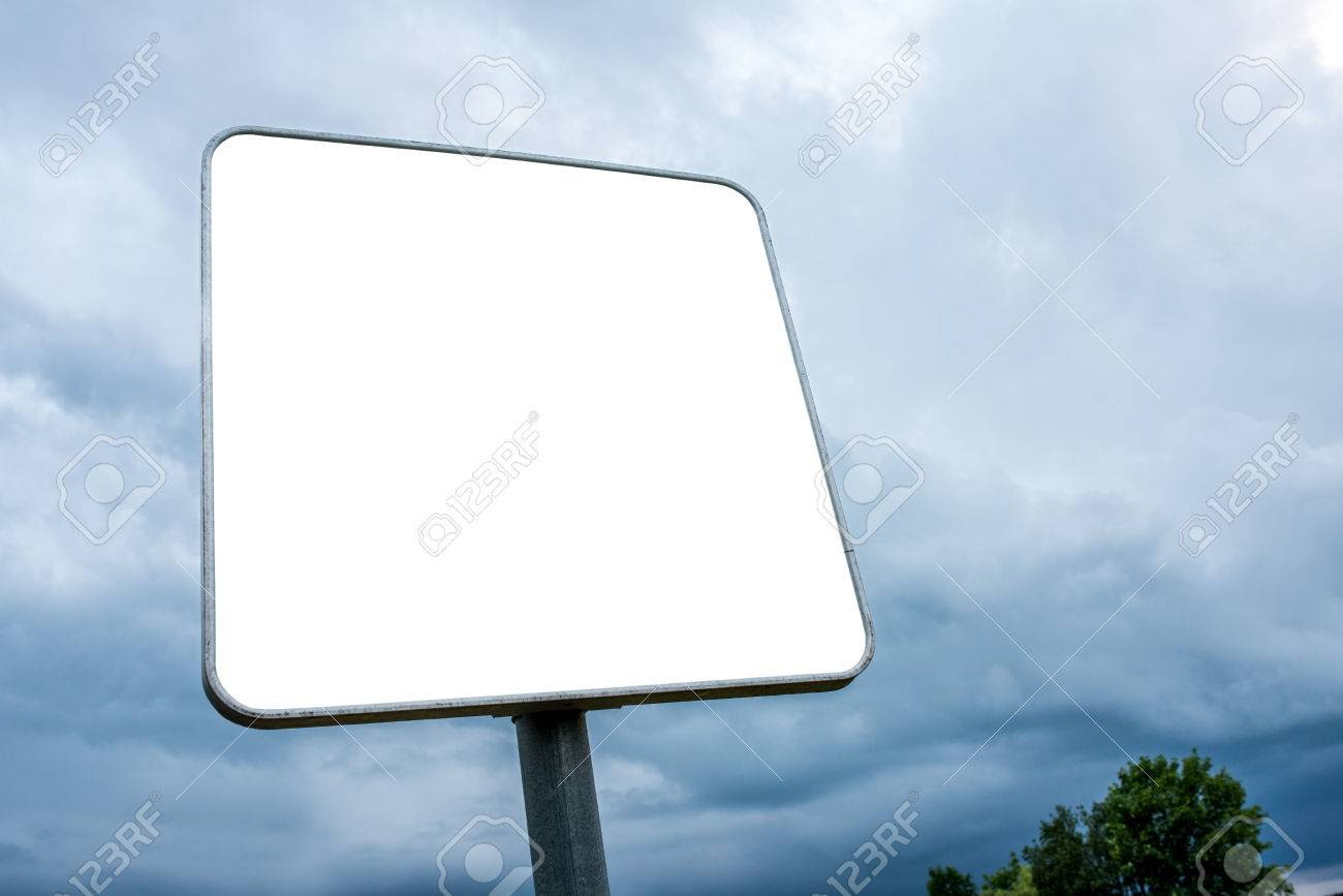 White Blank Square Shaped Billboard. Empty Space Ready For Your ...