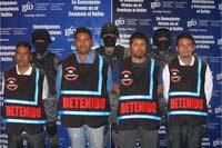 La detención de los presuntos miembros de los Caballeros Templarios. Foto: PGJG