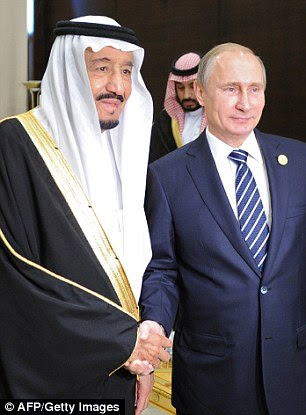 The Russian President was also feted bySaudi King Salman bin Abdulaziz Al Saud during a meeting on the sidelines of the G20 summit in Antalya
