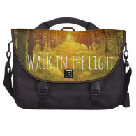 Inspirational Walk in the Light Bible Verse Laptop Bags