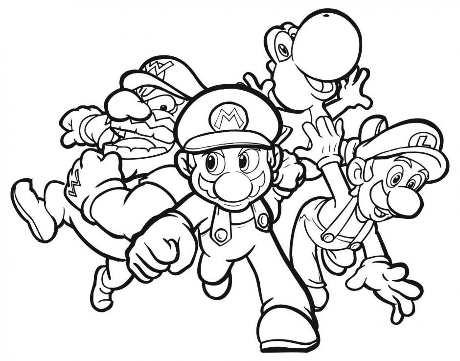 Laminas Para Colorear Coloring Pages Mario Y Luigi Para Dibujar