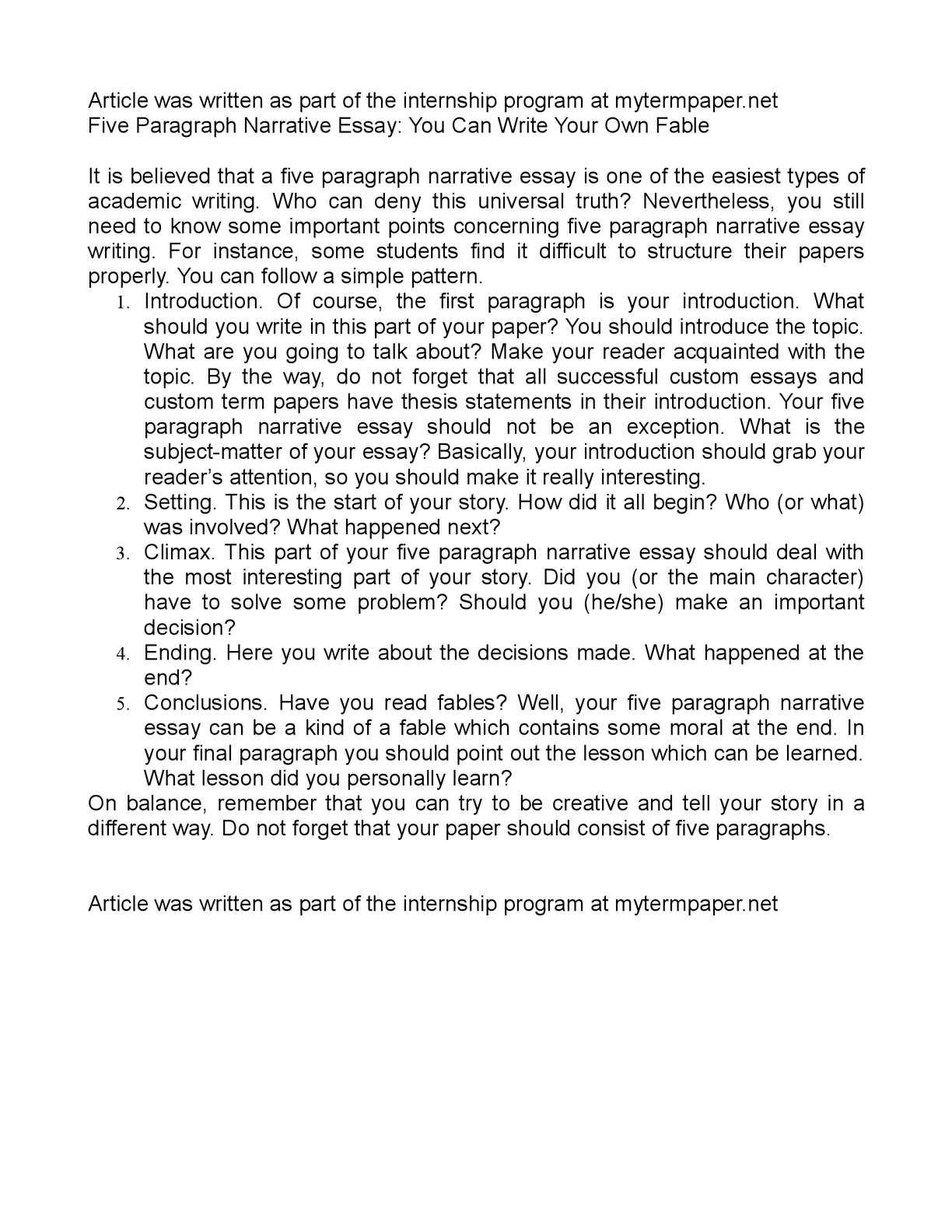 how do you write narrative essay