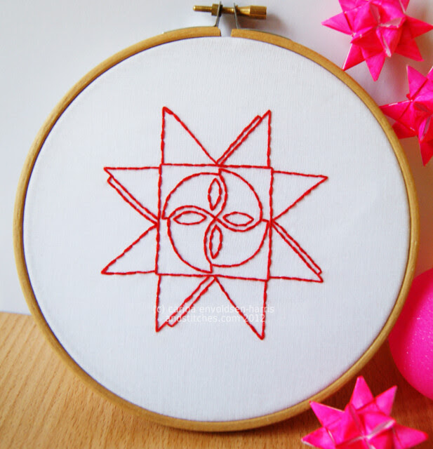 Julestjerne embroidery pattern for &Stitches