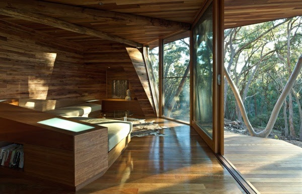 Trunk house - Modern log cabin design by Paul Morgan Architects