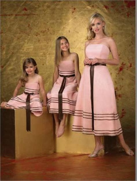 Pink Bridesmaid Gown with chocolate brown sash.