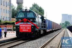 China flags off new cargo train to Europe