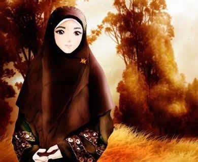 gambar animasi hijab  calendar template site