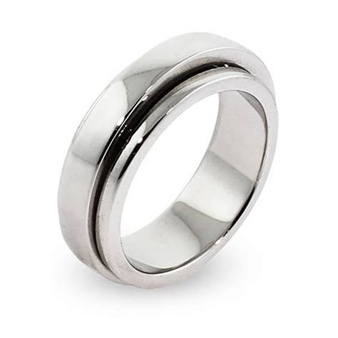 15 Collection of Spinning Mens Wedding Bands
