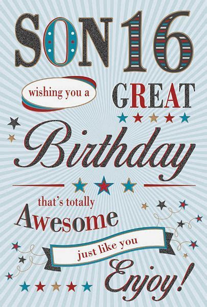 Son 16th Birthday Card