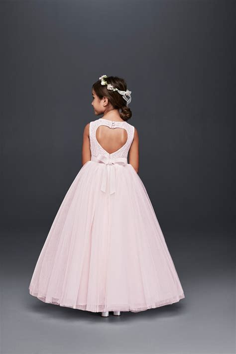 For the little sweetheart! A heart cut out pink ball gown