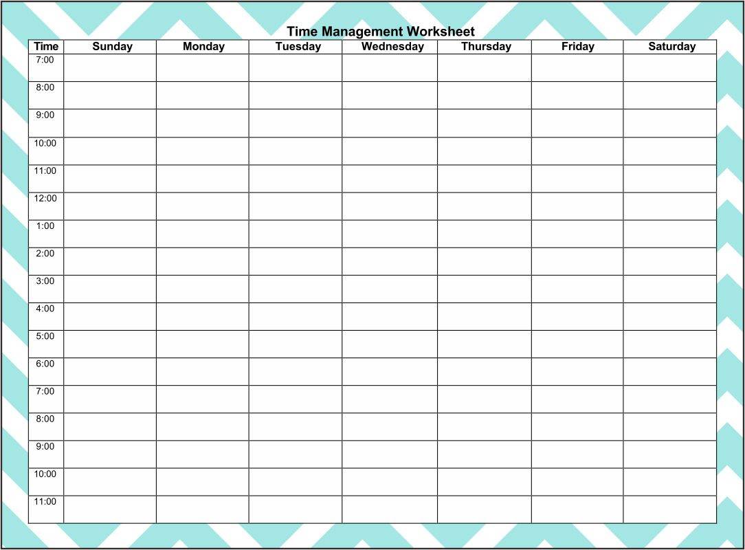 8 Best Images of Printable Hourly Planner Free Printable