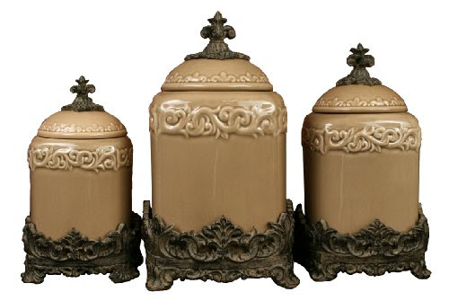 designer kitchen canister sets tuscan kitchen canister sets drake design 3401 large canister 3 piece set taupe 13 5 12 10 9361