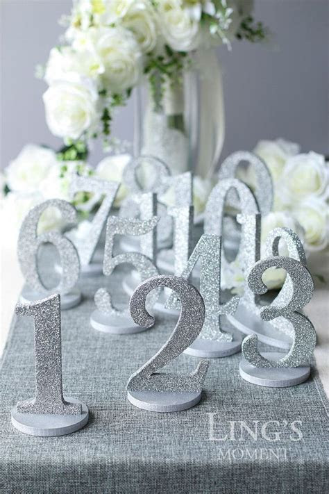 Table Numbers 1 25 Set Free Shipping Glitter Wedding Table