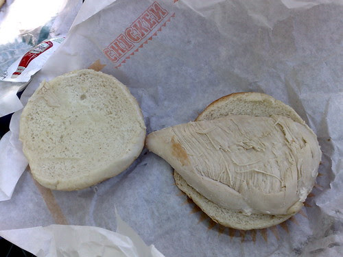 Don't buy the Chicken burger at the National Zoo $4.50
