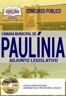 Apostila Concurso Câmara de Paulínia 2017 | ADJUNTO LEGISLATIVO
