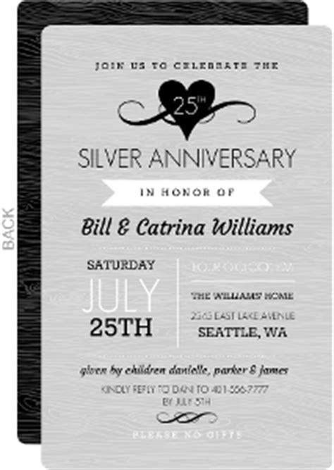 Cheap Custom 25th Anniversary Invitations   Invite Shop