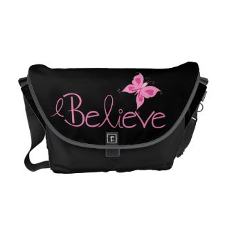 Pink Ribbon Breast Cancer Awareness Messenger Bags