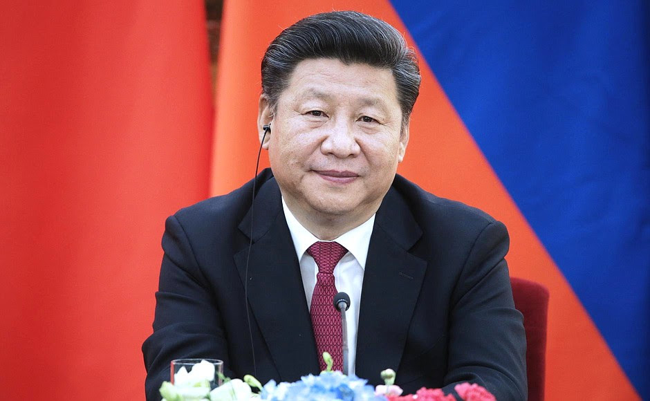 Press statements following Russian-Chinese talks. President ofthePeople's Republic ofChina Xi Jinping.
