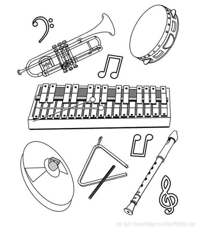 Coloriage à Imprimer Coloriage Instruments De Musique 015