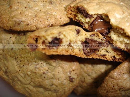 Cookies com chocolate