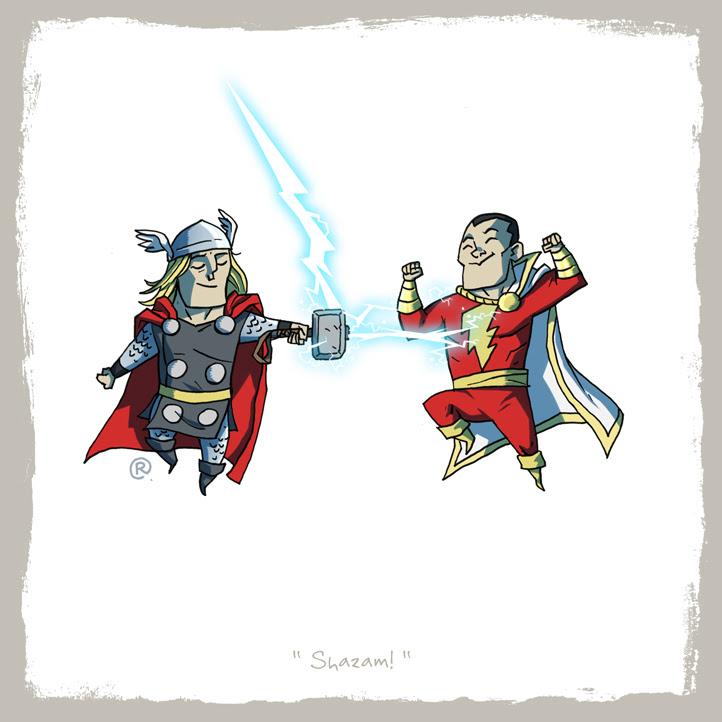 Thor y Capitán Marvel