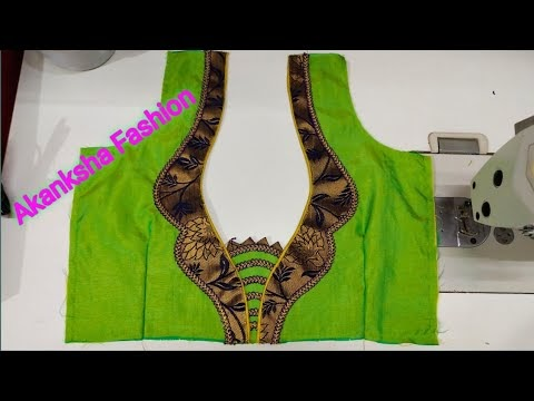 Beautiful and easy blouse back neck design||cutting and stitching back neck