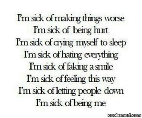 Feeling Sick And Sad Quotes