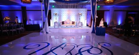 Navy Blue and Silver Decor ? Indian Wedding Venues