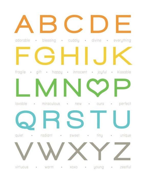 "My Alphabet Baby - Boy - 8x10"" Print (Customizable)"