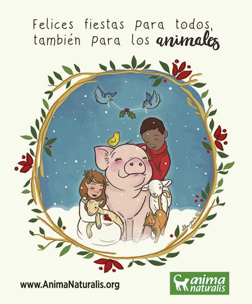 ¡Felices fiestas para todos los animales!