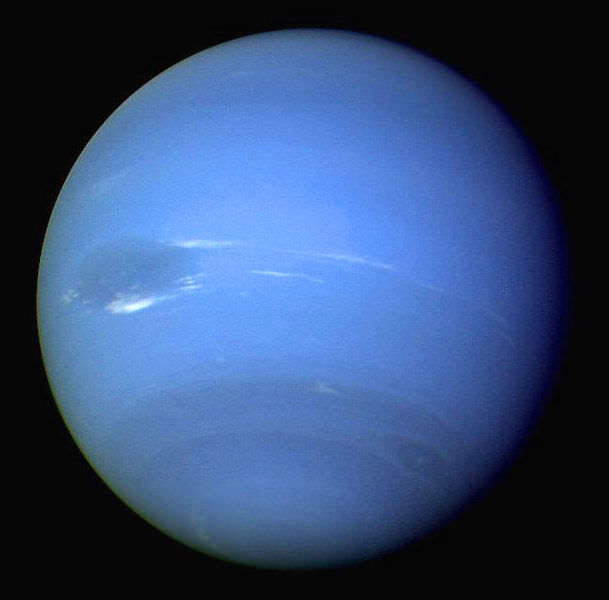 Neptune photographed by Voyage. Image credit: NASA/JPL