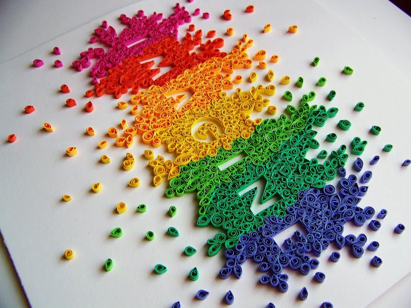 rainbow quilling