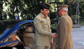 El Jefe del Ejército de Pakistán visita el Cuartel General del Ejército.