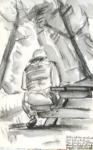 Alum Rock park - on the bench