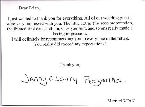 client thank you note « Brian Kelm Productions Blog
