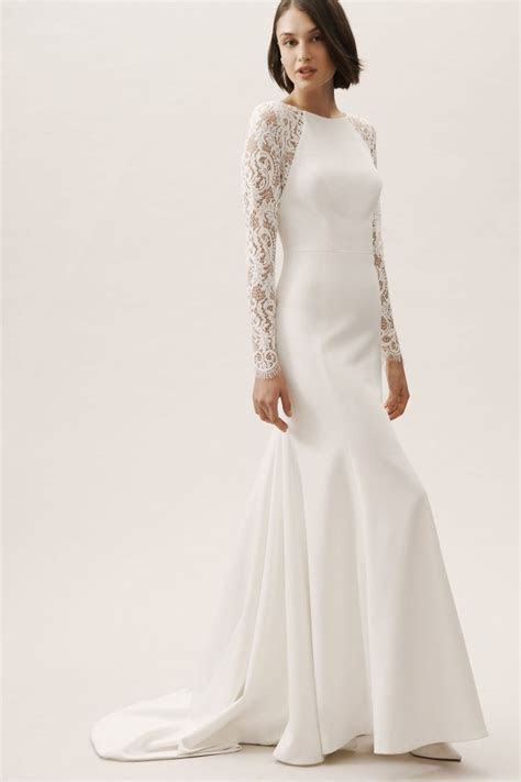 27 Fall Wedding Dresses That Are Cool & Cozy   Junebug