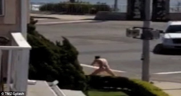 Breakdown: Jason Russell was hospitalized for exhaustion after behaving bizarrely in the streets while naked