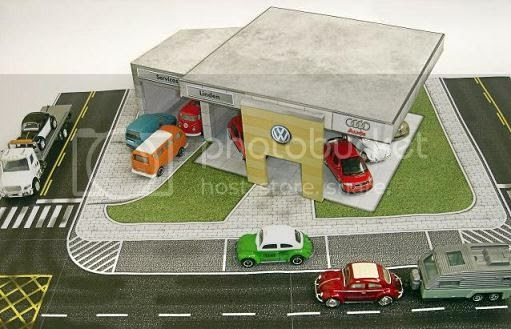 Papermau volkswagen dealership paper model by paper for Garage jm auto audincourt