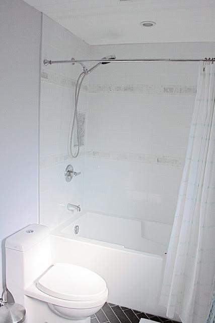 Glamorous toilet and tub.