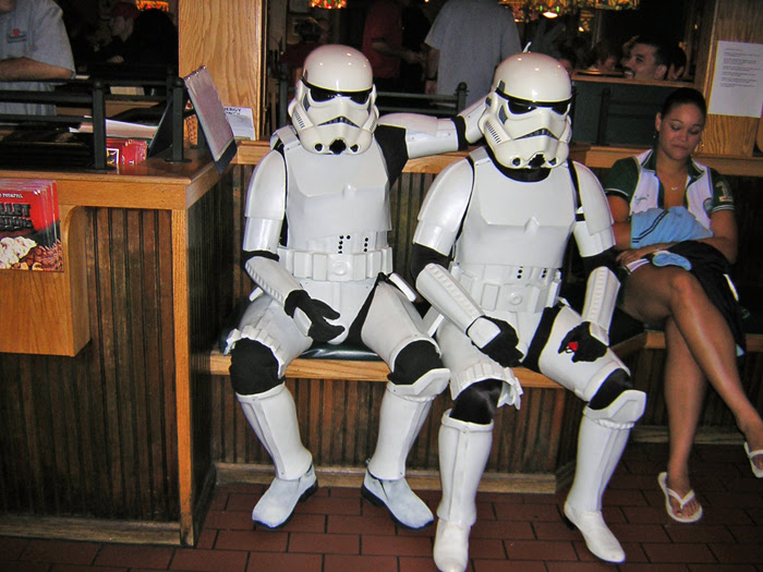 Troopers Waiting for Dinner