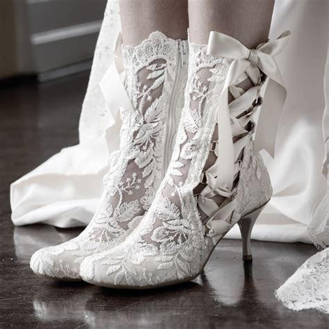 Vintage Lace Wedding Boots