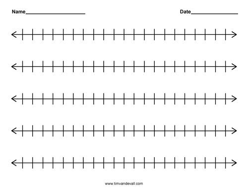 Number Names Worksheets : number line 1-50 ~ Free Printable ...