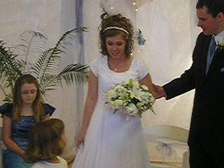 Megan thanking her flower girl