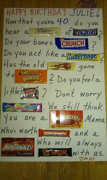 17  images about Poster board candy poems on Pinterest