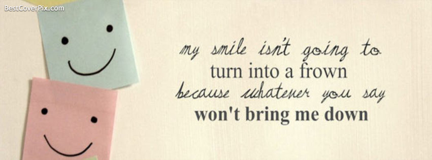 Smile Quote Facebook Profile Cover Photo