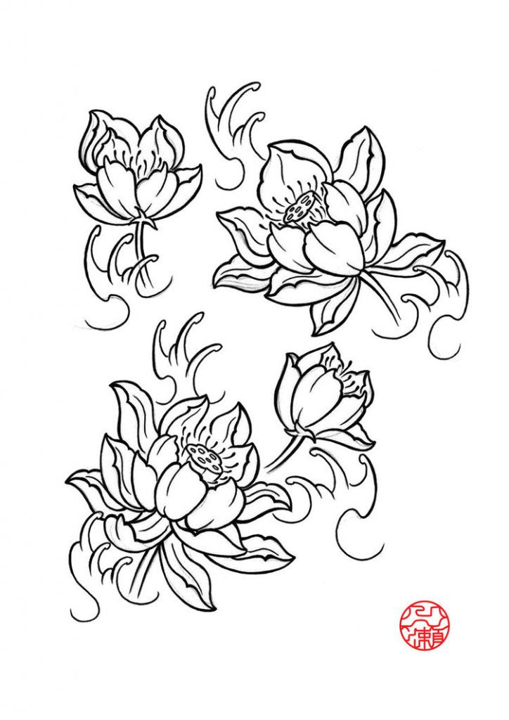 Japanese Flower Drawing Styles At Getdrawingscom Free For