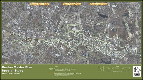 Reston Master Plan Special Study Land Units Map