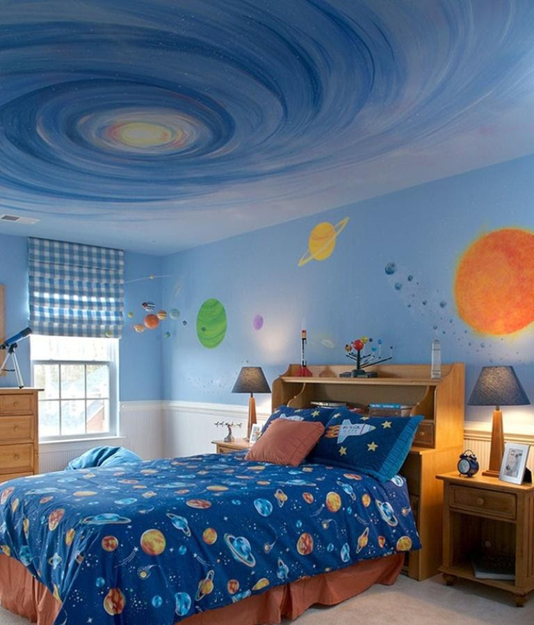 15 Fun Space Themed Bedrooms for Boys - Rilane