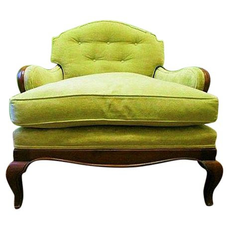 Button Back Armchairs by John M Smyth - A Pair on Chairish.com