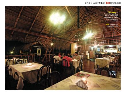 cafe arturo interiors at night